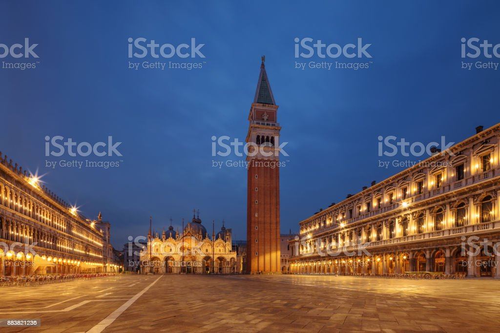 St. Mark Square, Venice, Italy stock photo