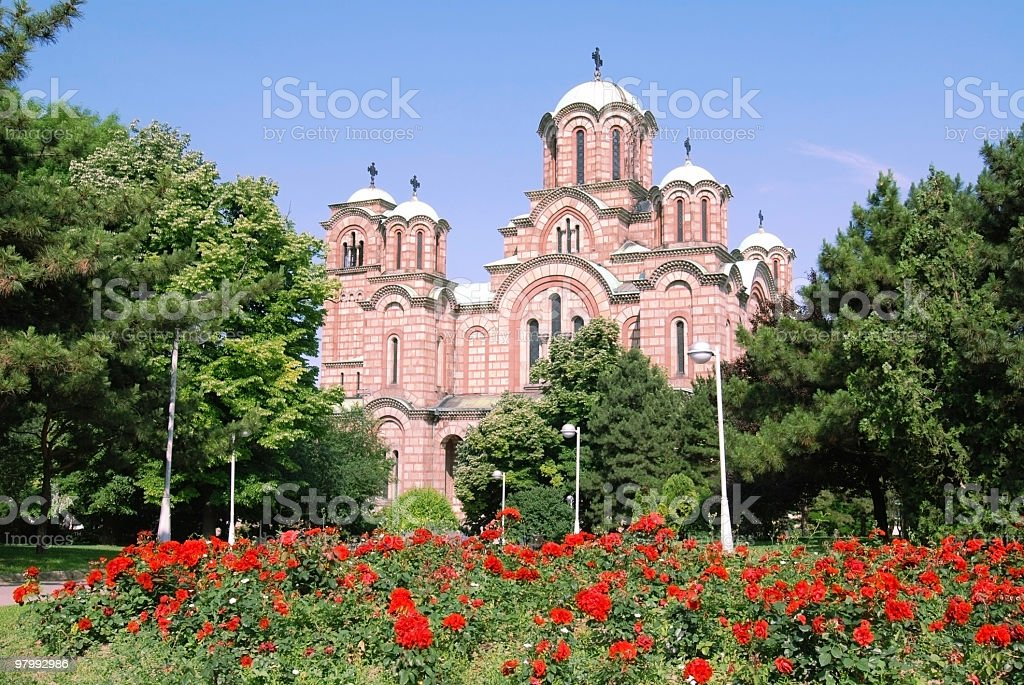 st. marko church in belgrade royalty-free stock photo