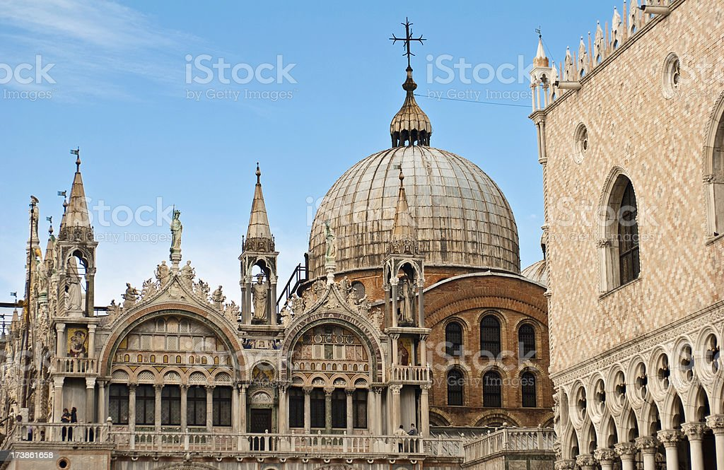 St. Mark's Basilica and Doge's Palace in Venice, Italy royalty-free stock photo