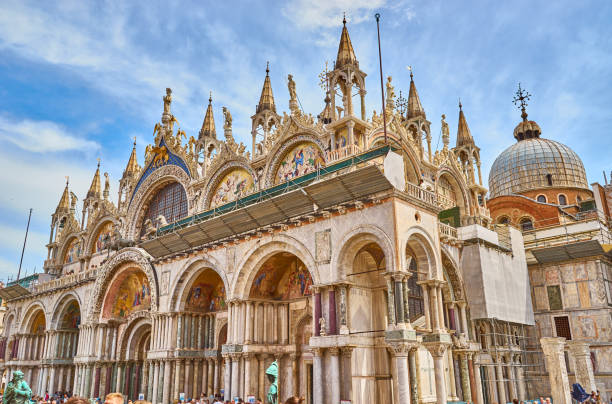St. Mark's Basilica in Venice in Italy At St. Mark's Square basilica stock pictures, royalty-free photos & images