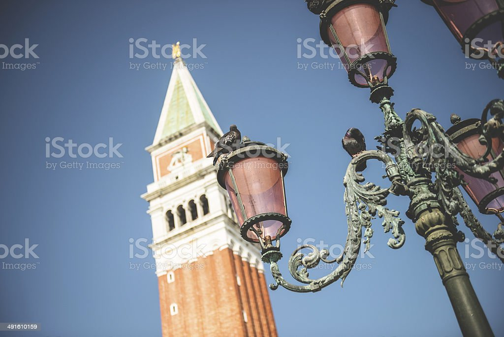 St mark's bell tower in venice royalty-free stock photo