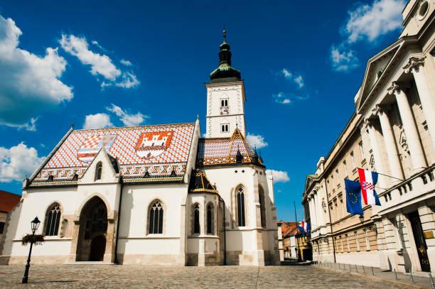 St Mark's Church - Zagreb stock photo