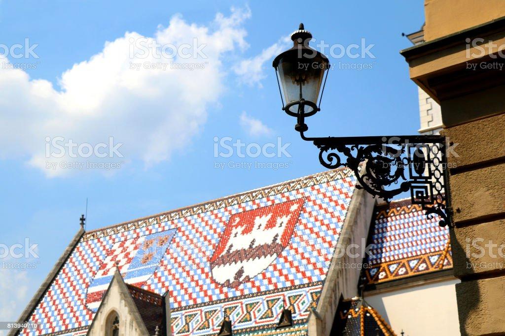 St. Mark's Church, Zagreb stock photo