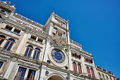 St Mark's Clocktower, a renaissance building in Piazza San Marco. Venice. Italy.