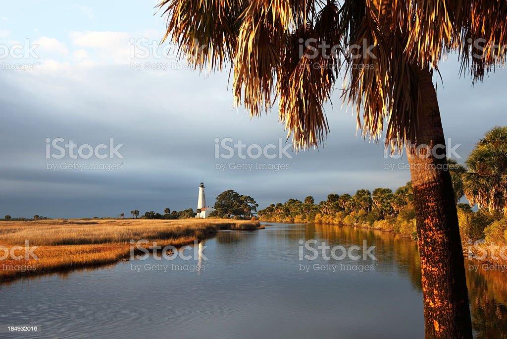 St. Marks Lighthouse stock photo