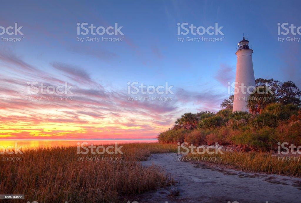St Marks Lighthouse stock photo