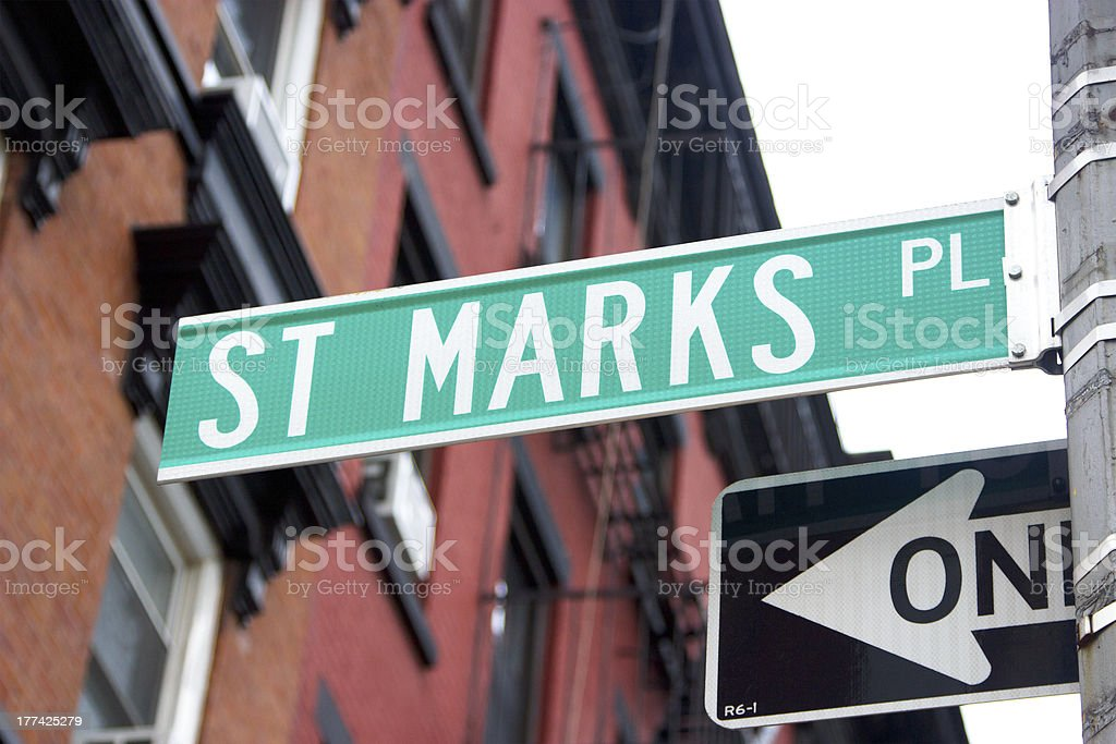 St. Marks Place, NYC stock photo