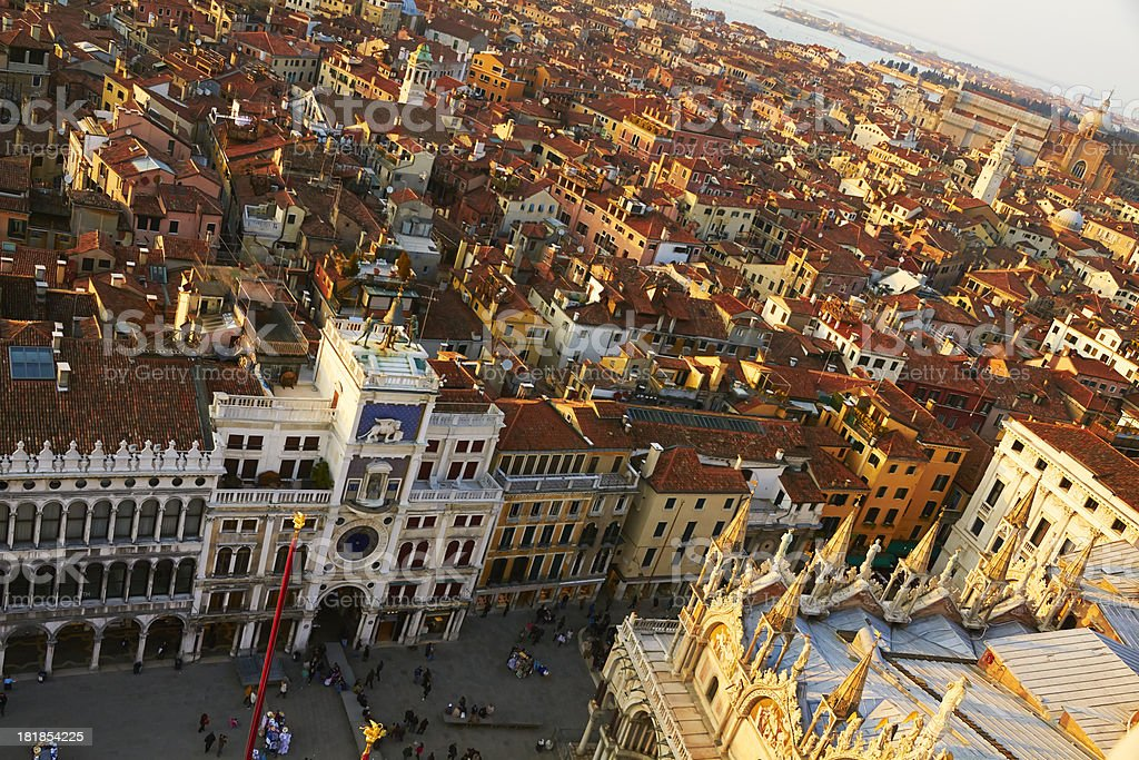 St. Mark's Square and roofs of Venice. stock photo