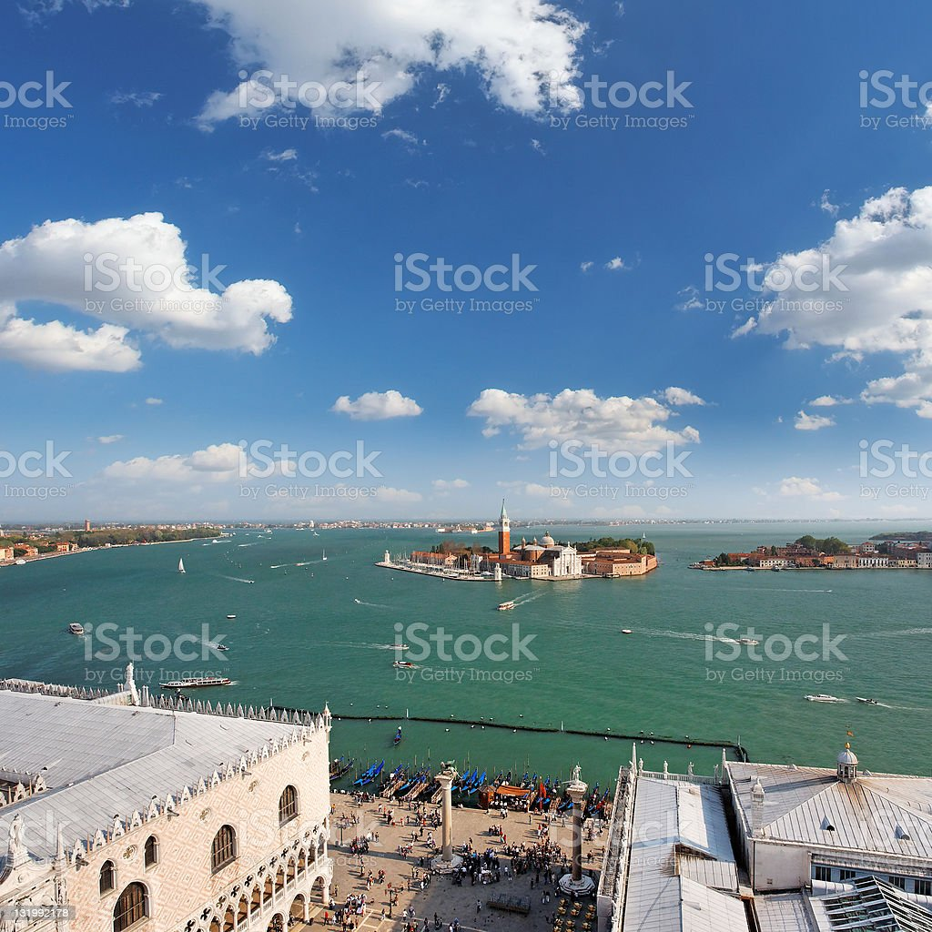 St Mark's Square and the Venetian lagoon royalty-free stock photo