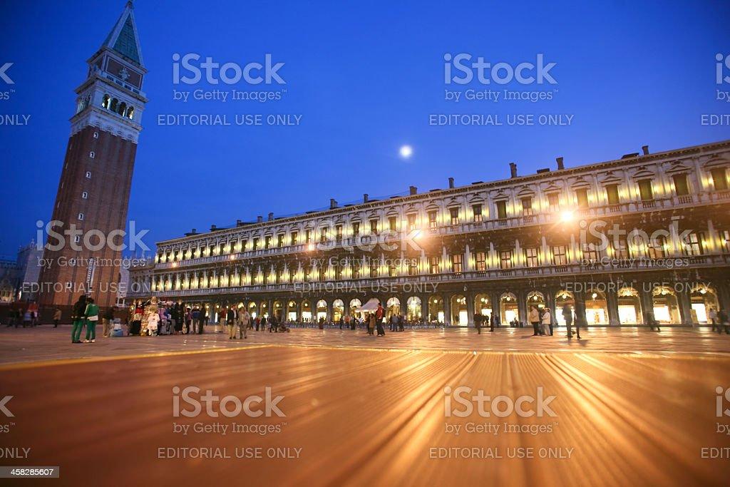 St Mark's Square at night royalty-free stock photo