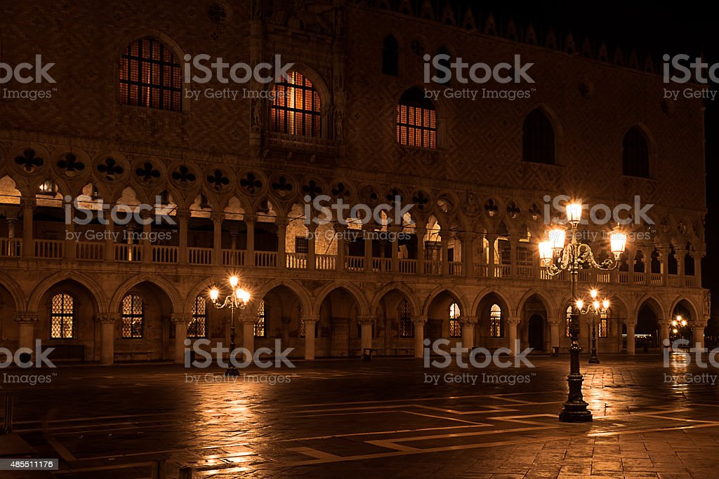 St Mark's Square at night stock photo