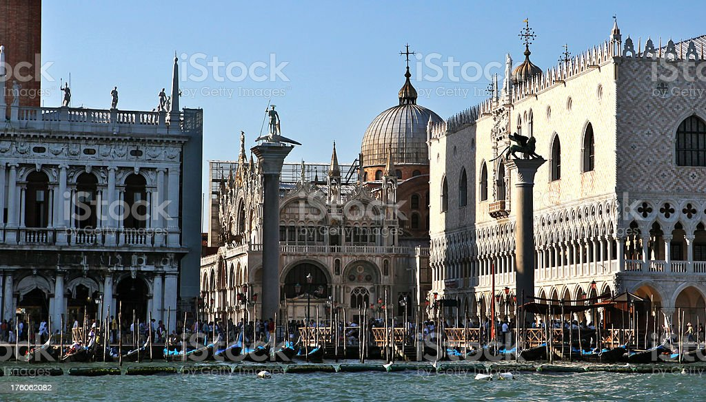 St. Mark's square at Venice (Italy) royalty-free stock photo