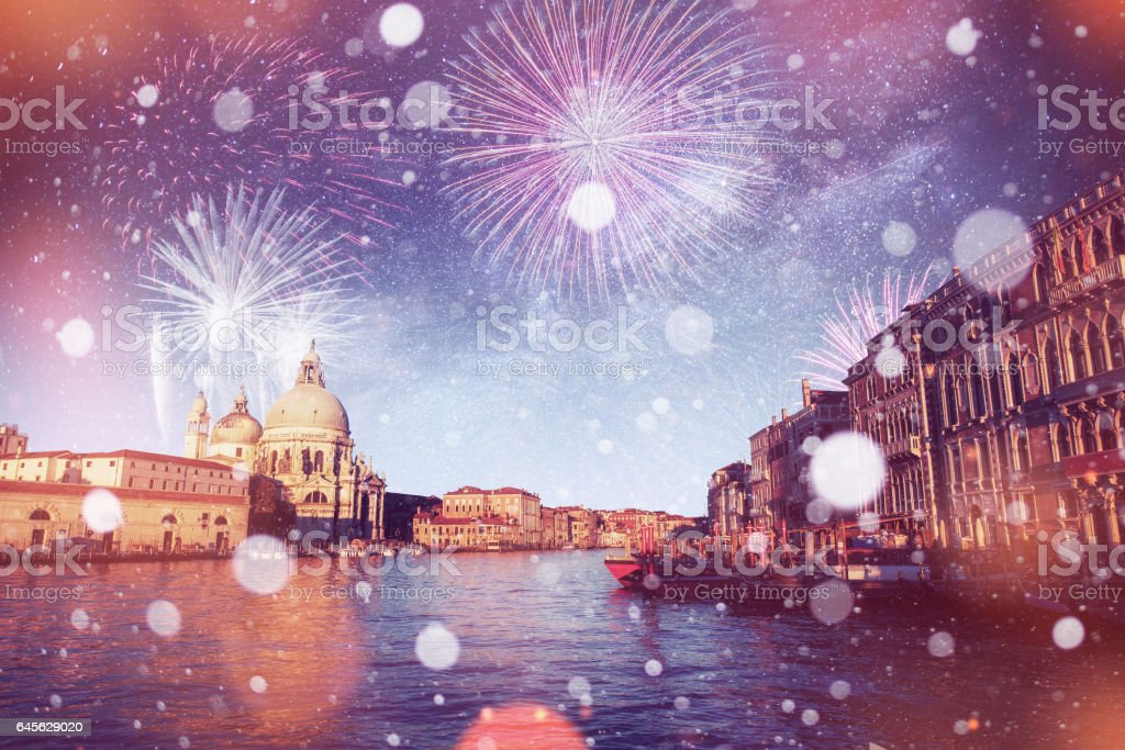 St Mark's Square Piazza San Marco and Campanile bell tower in stock photo