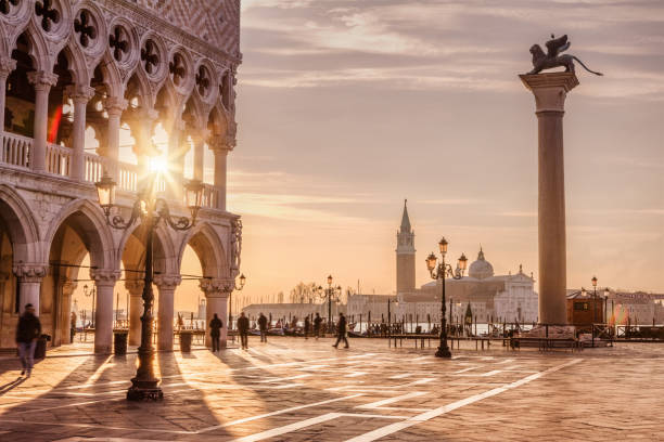 st. mark's square, venice, italy - italy stock photos and pictures