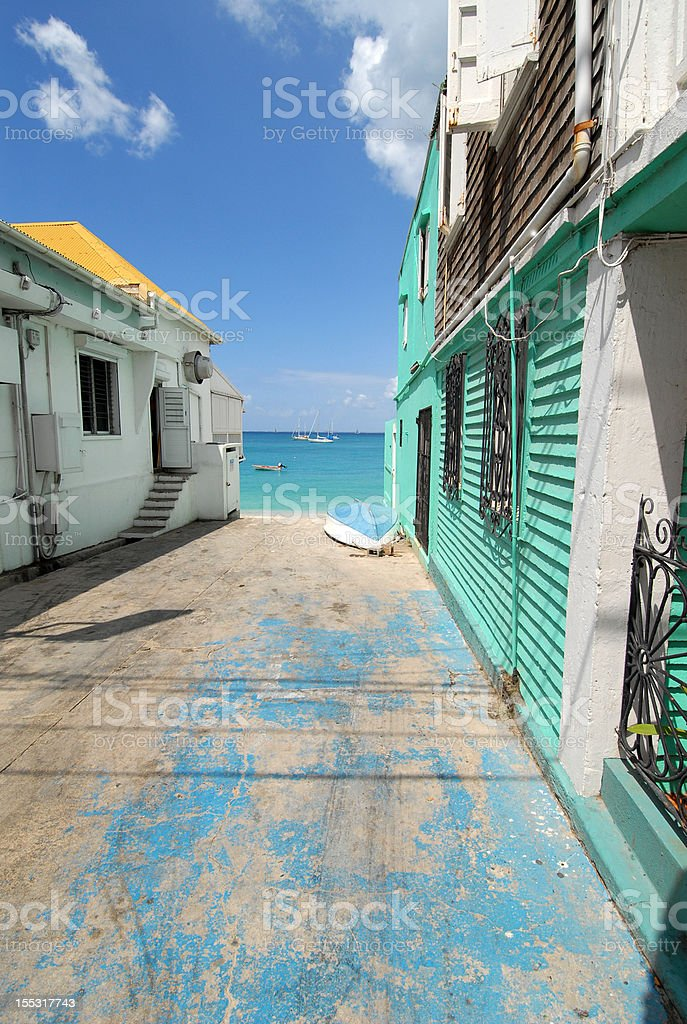 St. Martin Alley stock photo