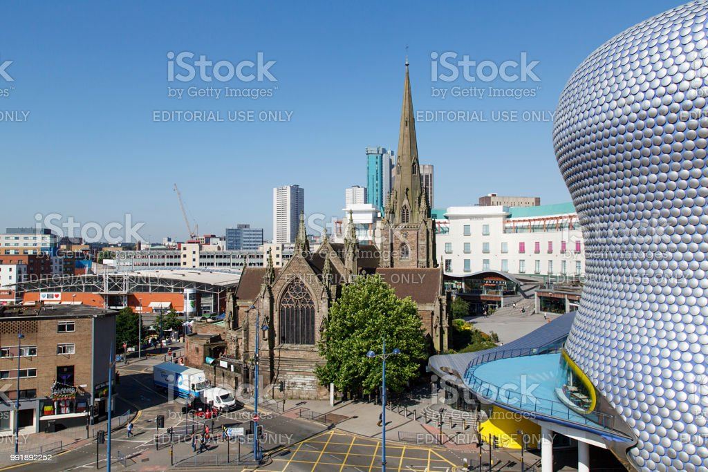 St Martin in the Bullring - Birmingham stock photo