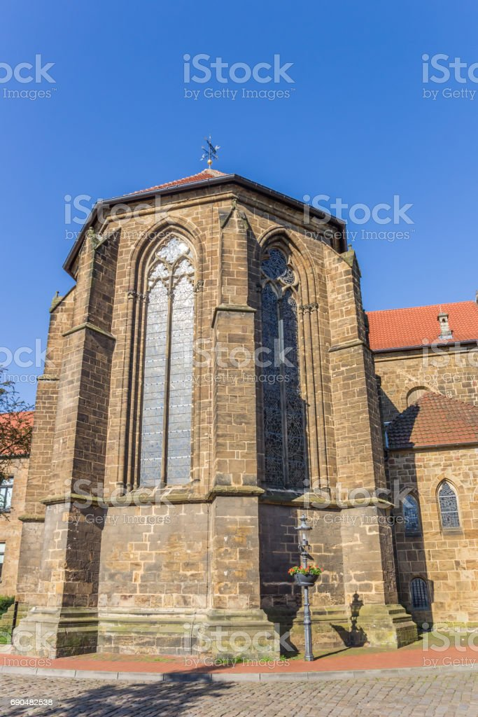 St. Martini church in the historic center of Minden, Germany stock photo