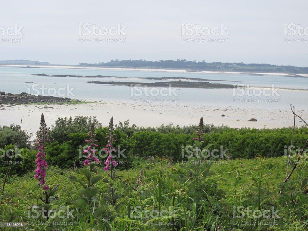 St Martin's beach, Isle of Scilly stock photo