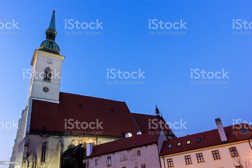 St. Martin's Cathedral in Bratislava royalty-free stock photo
