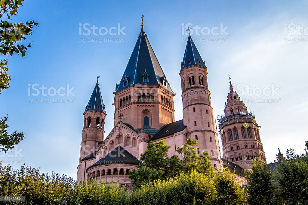 St. Martin's Cathedral in Mainz, Germany stock photo