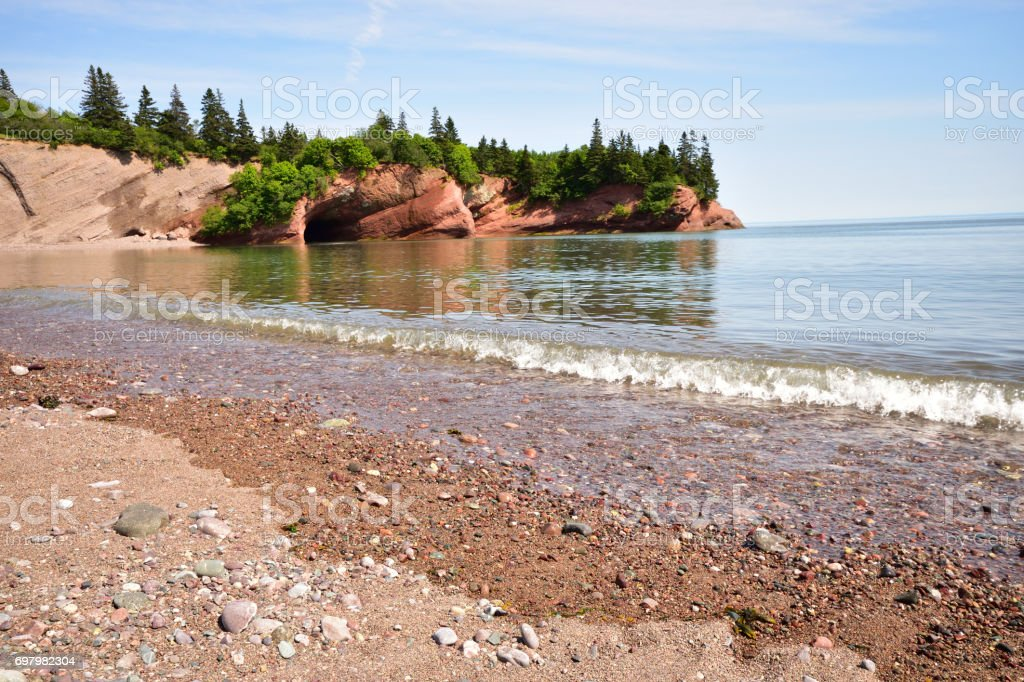 St Martin's Caves (New Brunswick Canada) stock photo