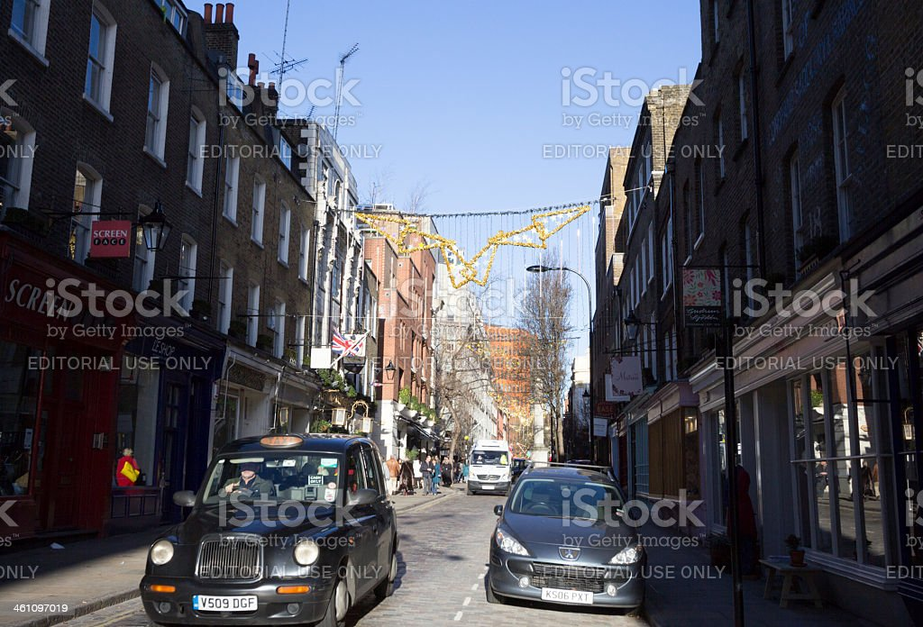 St Martin's Lane in London, England royalty-free stock photo