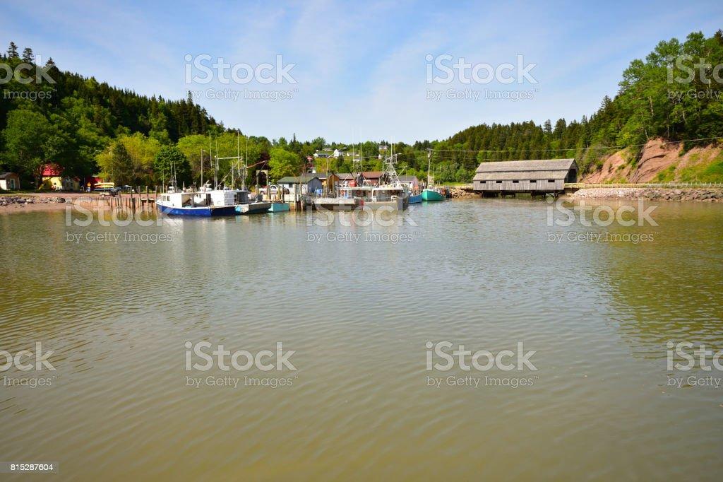 St Martins (New Brunswick Canada) stock photo