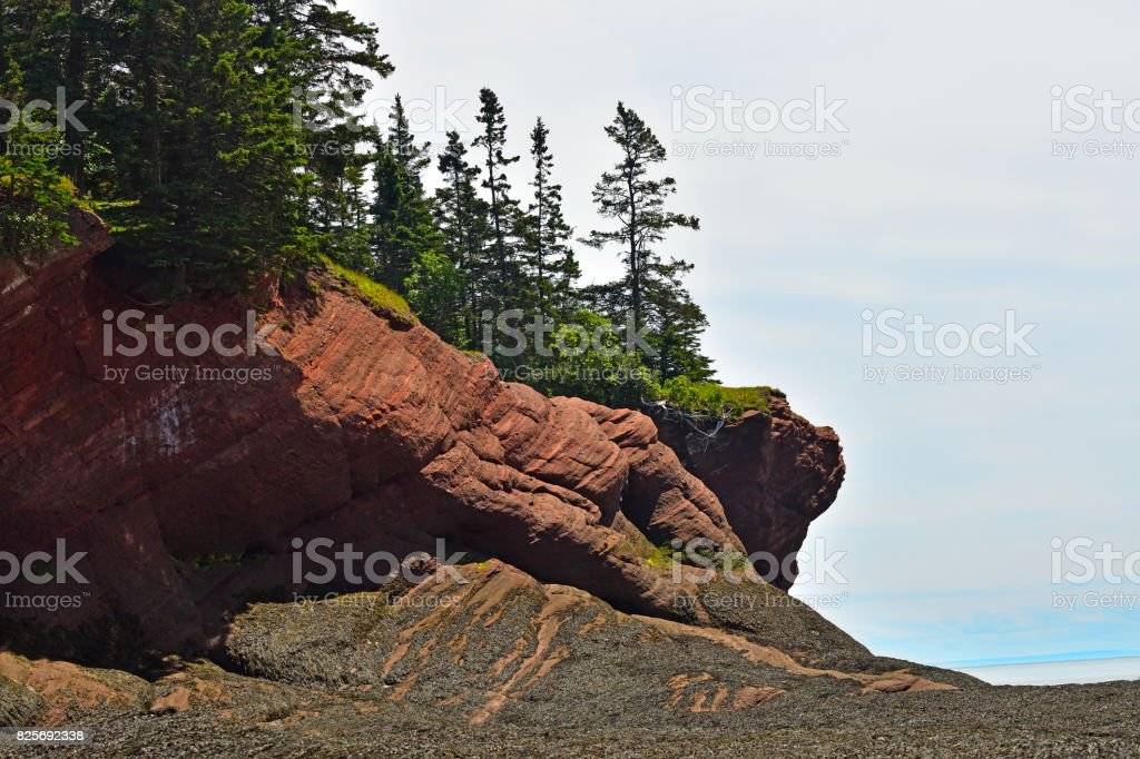 St. Martin's Sea Caves New Brunswick Canada stock photo