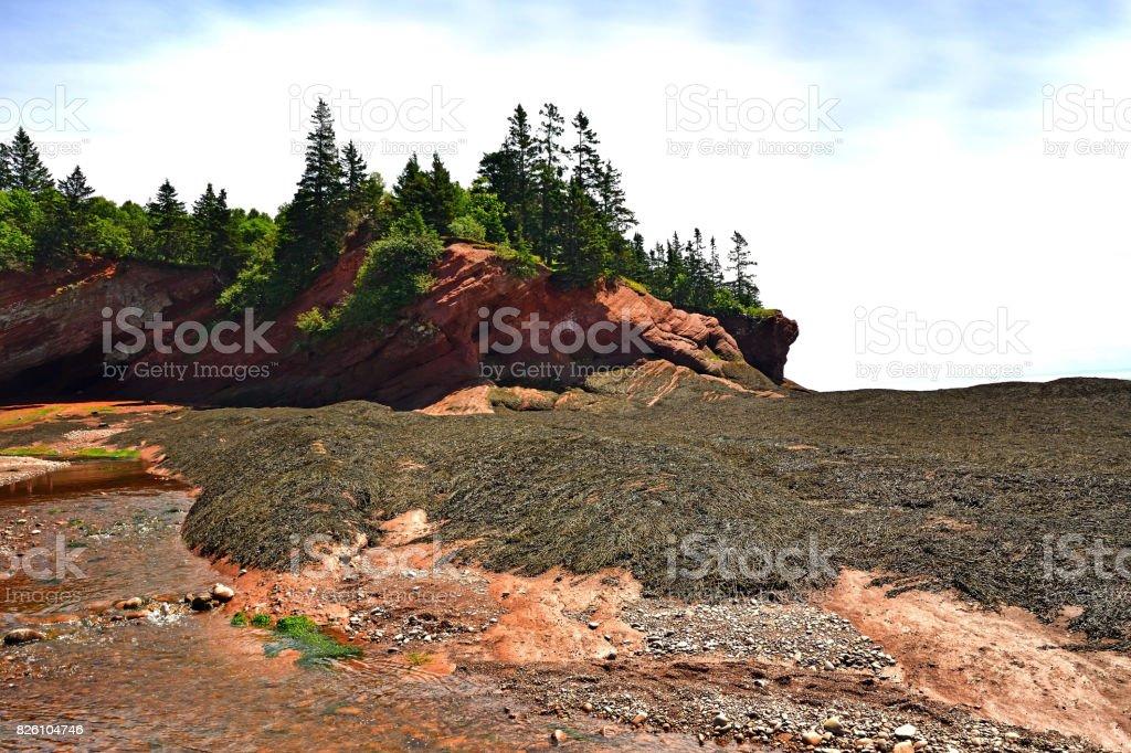 St. Martin's Sea Caves (New Brunswick Canada) stock photo