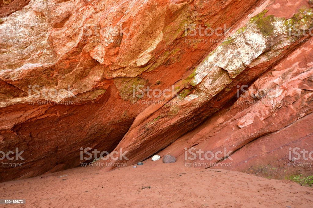 St Martin's Sea Caves (New Brunswick Canada) stock photo