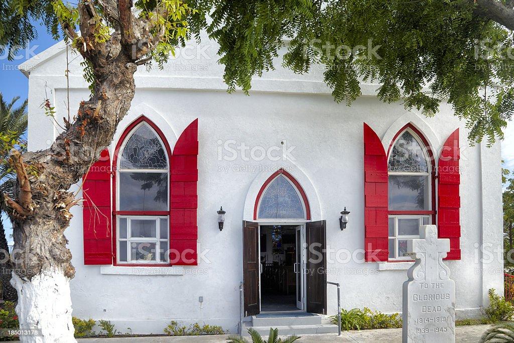 St Mary Anglican Church, Grand Turk Island, Turks and Caicos stock photo