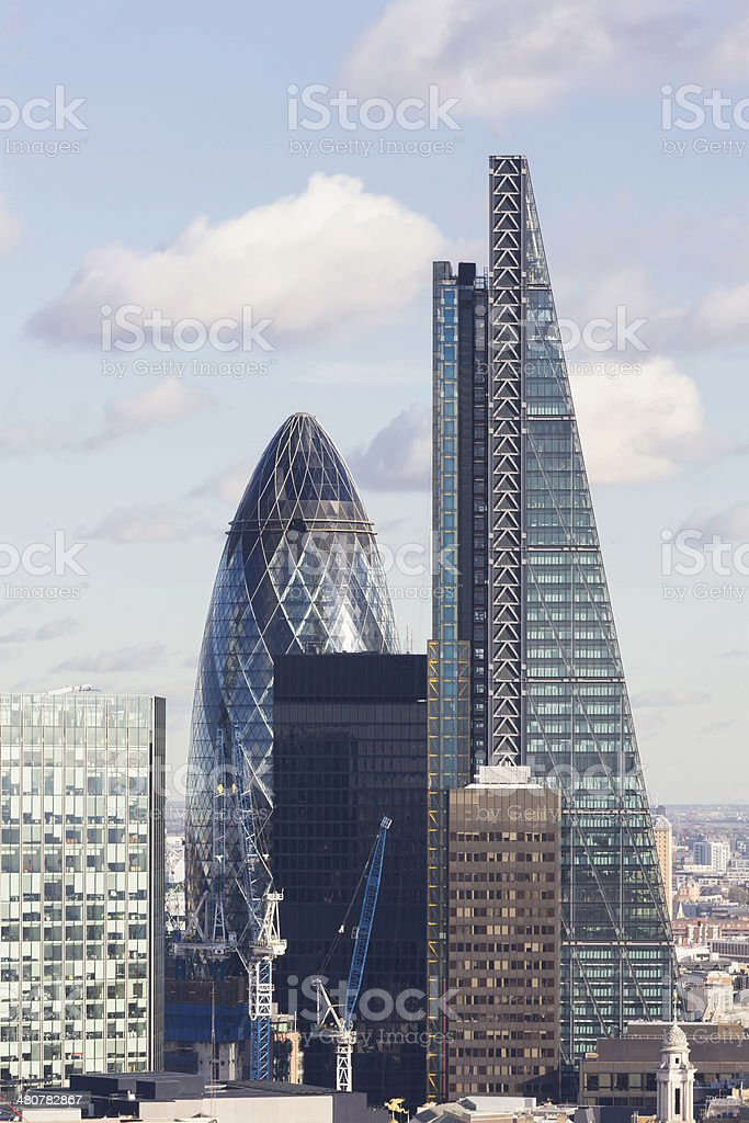 30 St Mary Axe and 122 Leadenhall Street stock photo