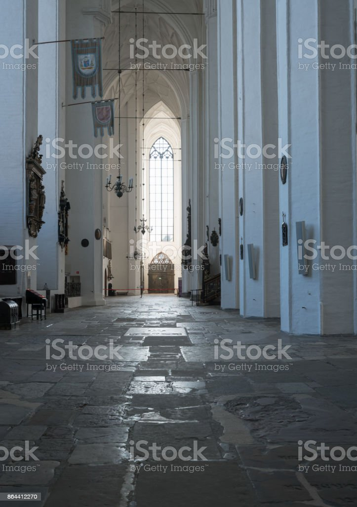 St Mary Church in Gdansk, Poland stock photo