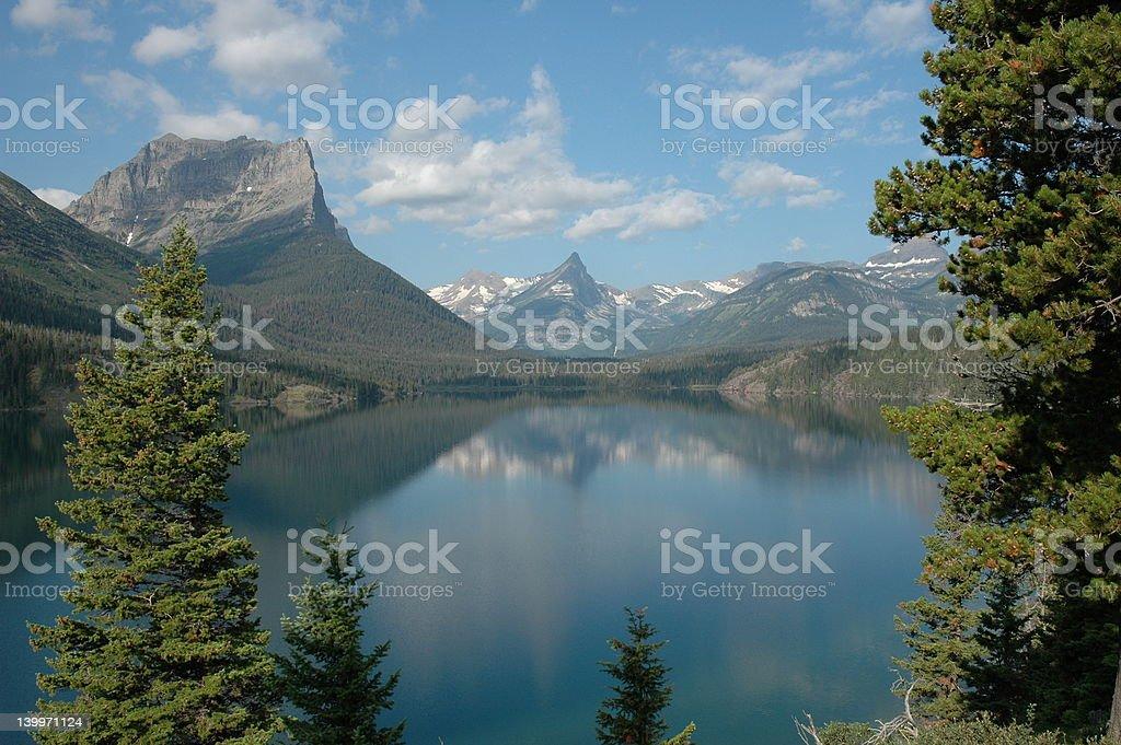 St. Mary Lake 2 stock photo