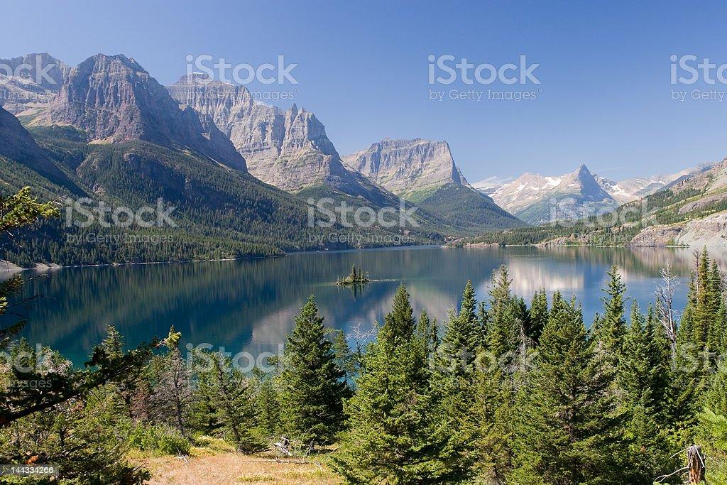 St. Mary Lake royalty-free stock photo