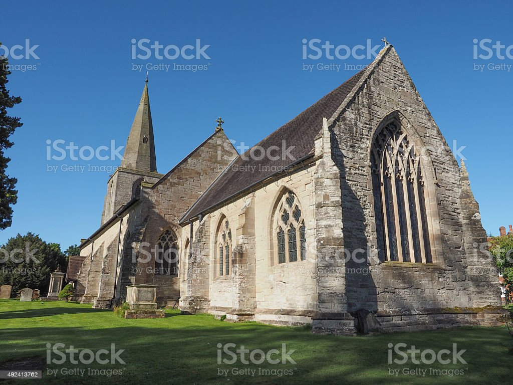 St Mary Magdalene church in Tanworth in Arden stock photo