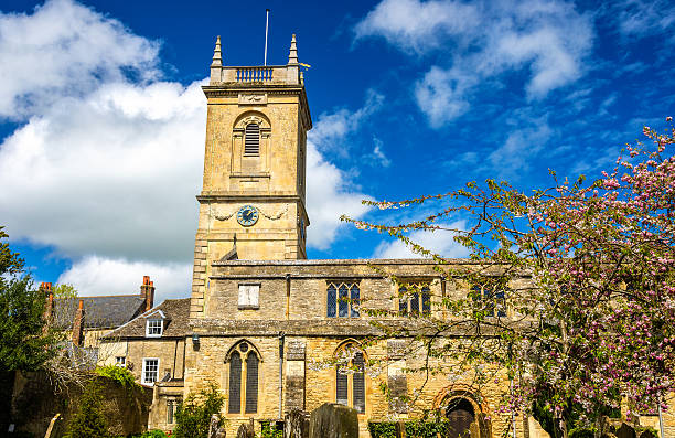 St Mary Magdalene church in Woodstock, Oxfordshire - England stock photo