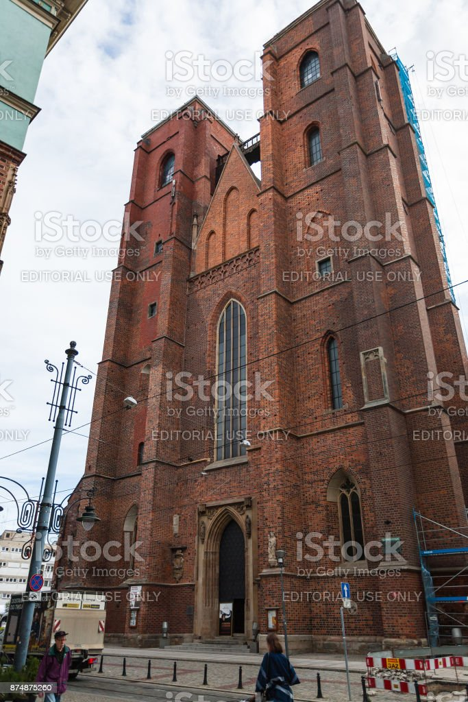 St Mary Magdalene Church in Wroclaw city stock photo