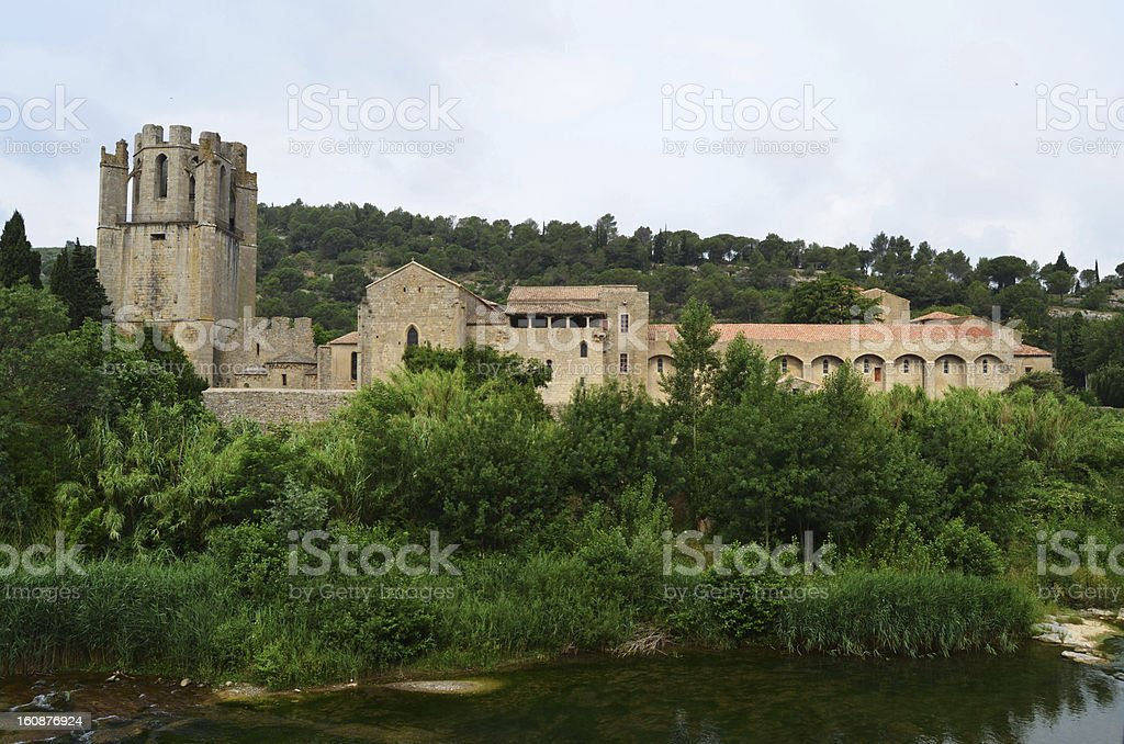 St. Mary of Lagrasse. Provence. France royalty-free stock photo