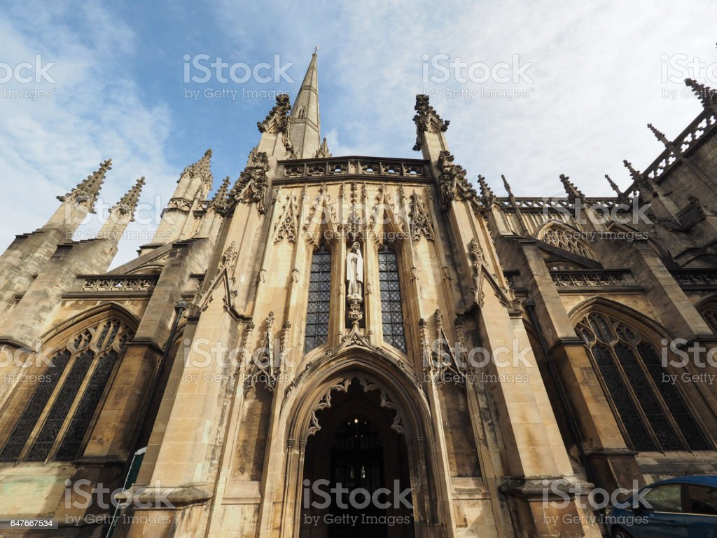 St Mary Redcliffe in Bristol stock photo