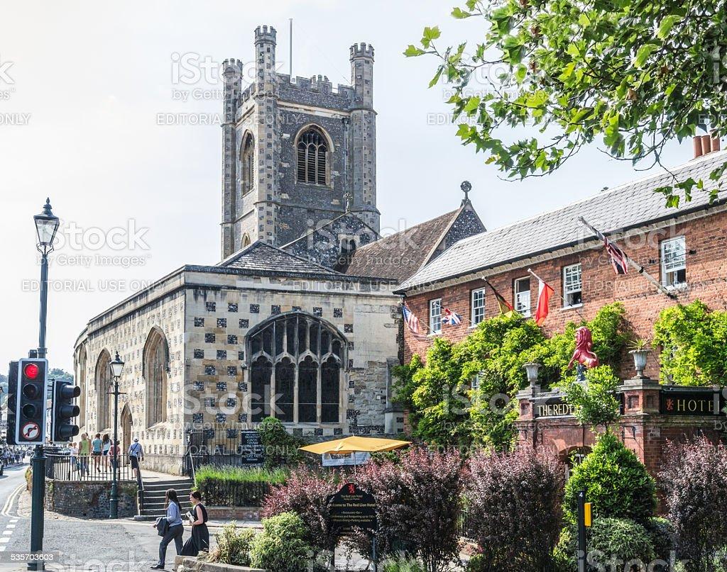 St. Mary the Virgin church Henley stock photo