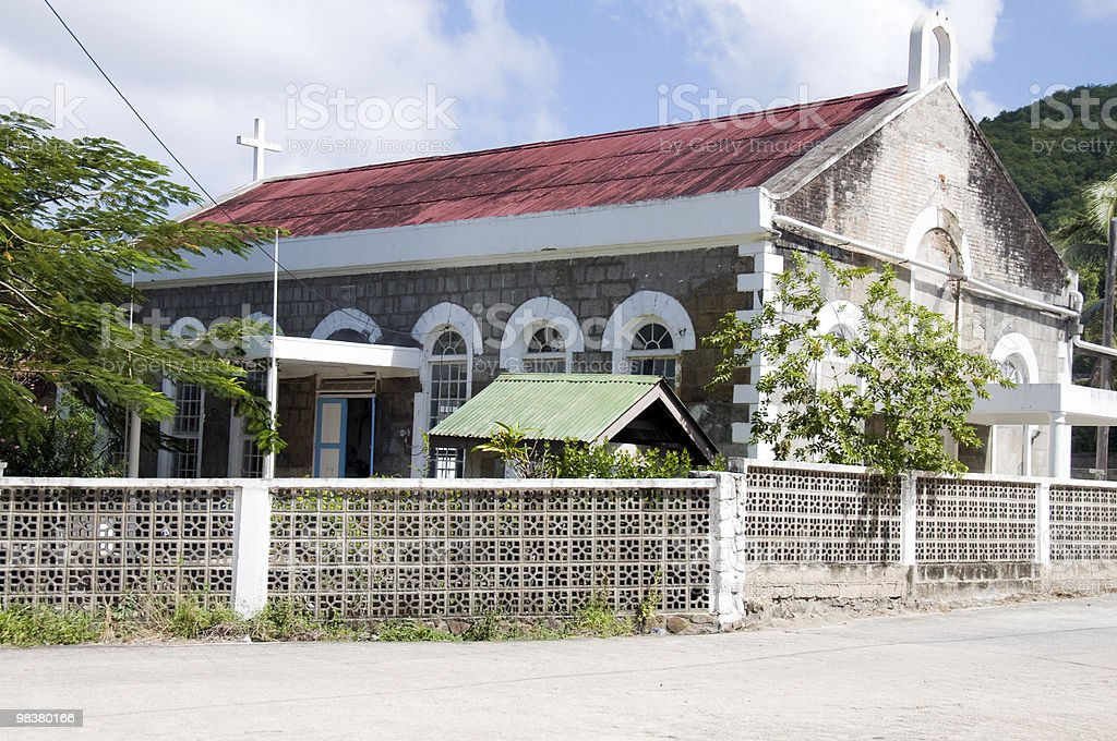 st. mary's anglican chuch port elizabeth bequia royalty-free stock photo
