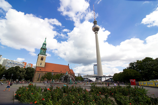 St Mary's Church and TV Tower, Berlin