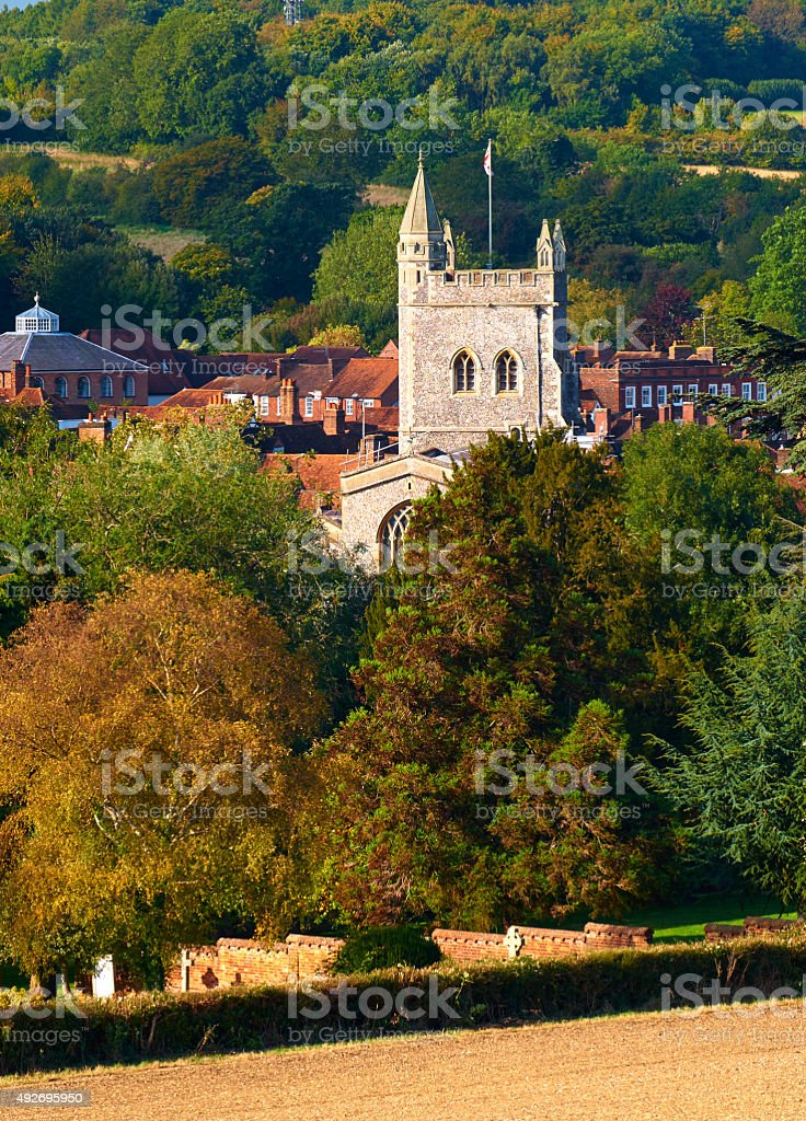 St Mary's Church In Old Amersham stock photo