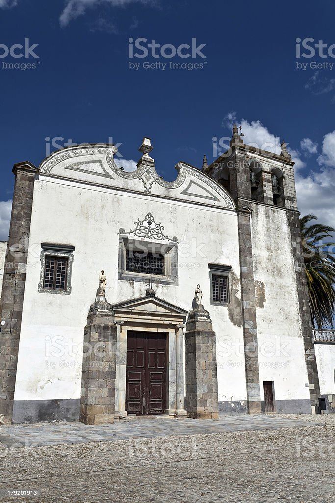 St Mary's Church in Serpa, Portugal royalty-free stock photo