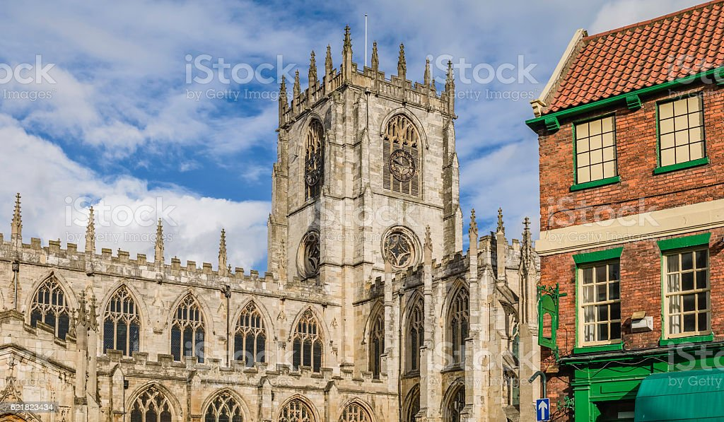 St Marys Church on a bright morning, Beverley, Yorkshire, UK. stock photo