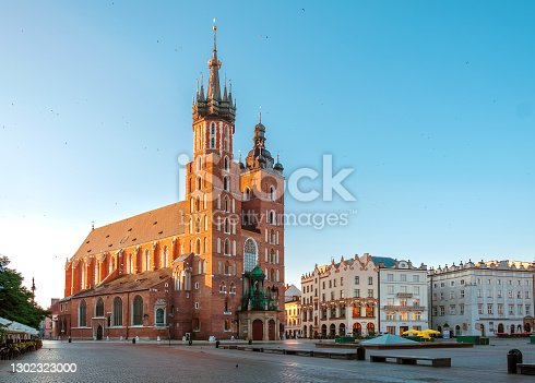 istock St. Marys Church on the main historical square of the city of Krakow 1302323000