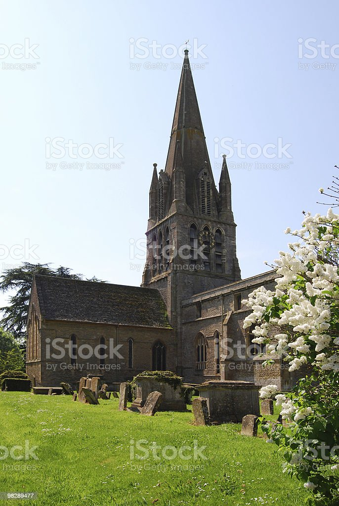 St Marys Church. Witney. Oxfordshire royalty-free stock photo