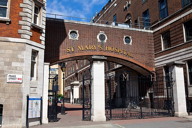 St. Mary's Hospital in Paddington, London stock photo