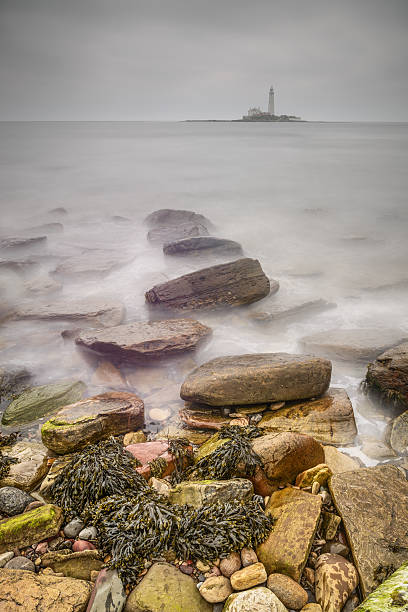 St. Mary's Lighthouse stock photo